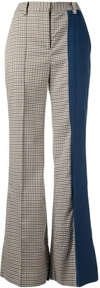 Eudon Choi Tina checked flared trousers