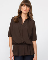 Le Château Silk Hand Button-Front Tunic