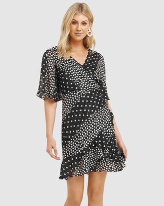 Cooper St Mosaic Flutter Sleeve Frill Dress