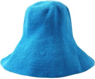 Brunna.Co Bloom Crochet Sun Hat, In Mosaic Blue