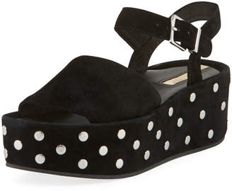 Kenneth Cole Danton Studs Suede Platform Sandals