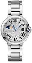 Cartier Ballon Bleu de Moon Phase Stainless Steel Bracelet Watch