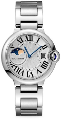 Cartier Ballon Bleu de Moon Phase Stainless Steel Bracelet Watch