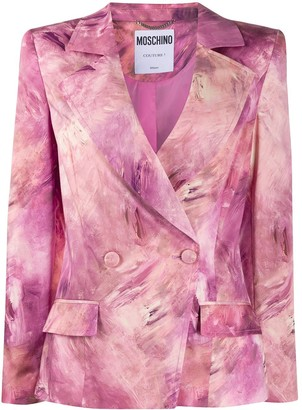 Moschino Tie-Dye Double-Breasted Blazer Jacket