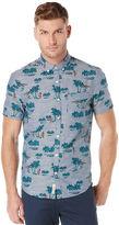 Original Penguin Tropical Print Chambray Shirt