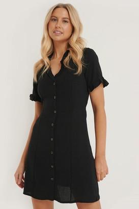 Trendyol Button Frill Detail Mini Dress