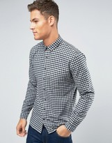 Lindbergh Shirt Slim Fit With Gingham Check In Gray