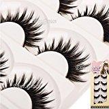 Makeup Black Cross False Eyelashes 5 Pairs Cosmetic Thick Fake Eye Lash Natural Eye Long Lashes Extension