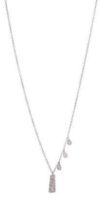 Meira T 14K White Gold Pave Diamond Necklace
