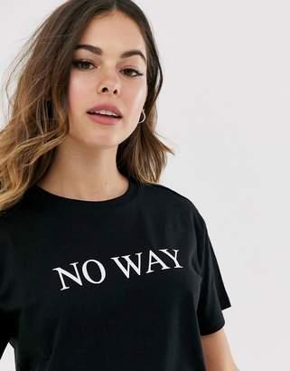 Asos Design DESIGN t-shirt with no way motif
