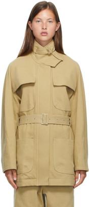 Low Classic Beige Classic Half-Pocket Jacket