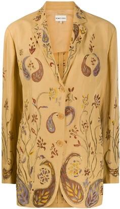 Romeo Gigli Pre-Owned SS 1999 paisley embroidery blazer
