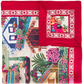 Salvatore Ferragamo village by the sea print scarf - women - Silk - One Size