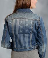 Roper Blue & White Flag Denim Jacket