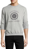 Saint Laurent Universite Crewneck Sweatshirt, Gray