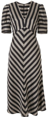Rebecca Vallance Nautique woven midi dress