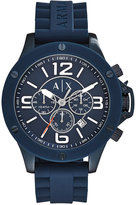 Armani Exchange A|X Men's Chronograph Blue Silicone Strap Watch 48mm AX1524