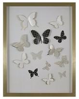 Nobrand No Brand 3D Butterfly Gold Framed Wall Art