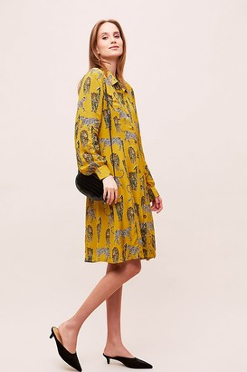 Kachel Amaka Leopard-Print Shirtdress
