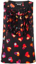 Moschino heart print top - women - Silk/Cotton - 42