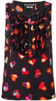 Moschino heart print top - women - Silk/Cotton - 42