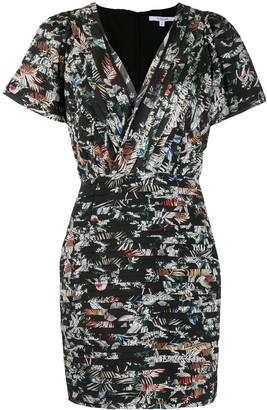 Derek Lam 10 Crosby Cap Sleeve Wallpaper Floral Fitted Dress