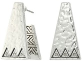 House Of Harlow Golden Scutum Trapizoid Earrings