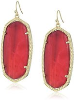 Kendra Scott Danielle Gold Burgundy Illusion Drop Earrings