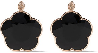 Pasquale Bruni 18kt rose gold Ton Joli onyx and diamond drop earrings