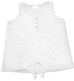 Style&Co. Style & Co Henley Tie-Front Tank Top, Created for Macy's