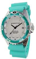 Momentum Women's Quartz Stainless Steel and Rubber Diving Watch, Color:Blue (Model: 1M-DN11LA1A)