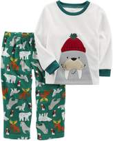 Carter's Boys' 2-Piece Walrus Fleece PJs
