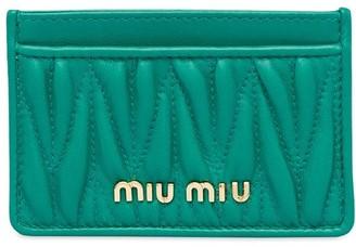 Miu Miu Matelassé card holder