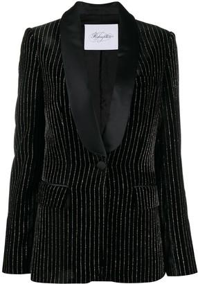 Redemption Velvet Striped Blazer