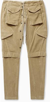 Greg Lauren Slim-Fit Tapered Cotton-Corduroy Cargo Trousers