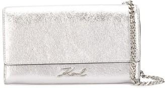 Karl Lagerfeld Paris K/Signature metallic shoulder bag