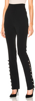 David Koma Loops & Metal Balls Hem Embroidered Trousers