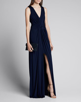 Jason Wu Collection Fluid Evening Jersey Dress w/ Knotted Front