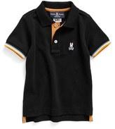 Psycho Bunny 'St. Lucia' Piqué Pima Cotton Polo (Toddler Boys, Little Boys & Big Boys)