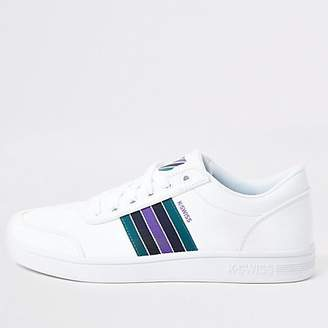 River Island K-Swiss white Court Clarkson trainers
