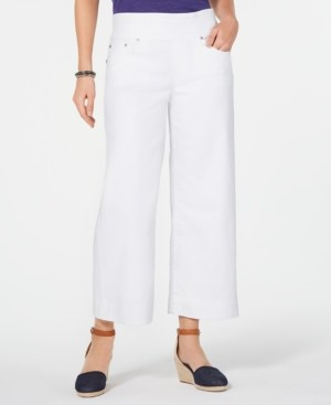Style&Co. Style & Co Plus Size Pull-On Wide-Leg Cropped Jeans, Created for Macy's