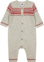 Petit Bateau Jacquard wool-blend baby-grow 1-12 months