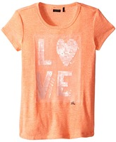 Ikks Heathered Cotton T-Shirt with Sequined Love on Front (Little Kids/Big Kids)