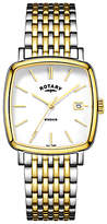 Rotary Gb05306/01 Windsor Date Two Tone Bracelet Strap, Watch