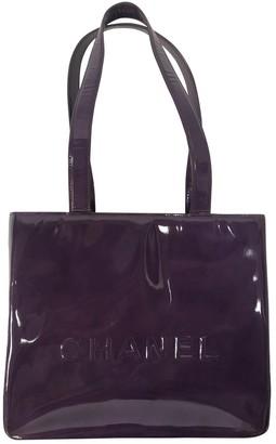 Chanel Purple Patent leather Handbags