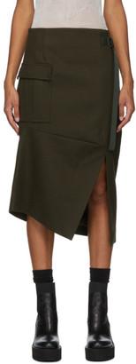 Sacai Khaki Wool Skirt