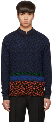 Paul Smith Multicolor Knit Floral Sweater