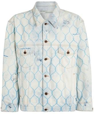 Off-White Bleached Fence Denim Jacket