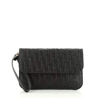 Christian Dior Black Leather Clutch bags