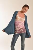 Lauren Conrad Rose Cocoon Shrug Wrap in Blue Flower